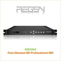 RIS1504 Digital TV SD Decoder Professional IRD/Receiver 4-Channel Video output CVBS RCA Interface MPEG-2 Decoding Manufactures