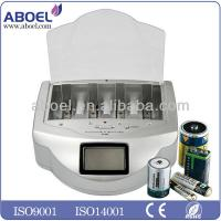 AAA AA 9V Alkaline Battery Recharger , Smart Battery Charger Manufactures