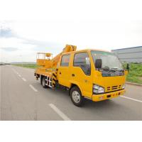 Buy cheap 6475kg Weight 4x2 Drive KaiFan Aerial Work Platform Truck 18M Telescopic Boom from wholesalers