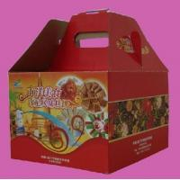 Customized Red 8 * 8 * 6 Inch Die Cut Corrugated Gift Boxes For Cake Packaging Manufactures