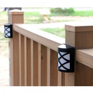 Wall Mount Plastic Motion Sensor Solar Light , Solar Fence Lights For Deck Post Manufactures