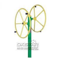 outdoor fitness equipments steel based zinc powder coating Rotating Wheel-OK-J01A Manufactures