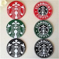 Custom 8.5 cm beautiful brand name cup coaster made in china Manufactures