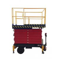 6 meters height mobile hydraulic scissor lift with motorized device loading capacity at 450Kg Manufactures