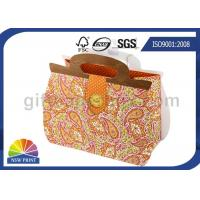 China Printing Handbag Shaped Wrapping Paper Gift Bag with Die-cut Handle , Eco-friendly on sale