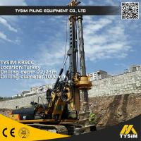 Diameter 1000mm 32m Friction Kelly Bar Piling Rig Machine TYSIM KR90C Manufactures