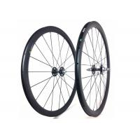 Quality Tubular Clincher Carbon Cycling Wheels T700 , Carbon 38mm Fixed Rear Wheel 700c  for sale