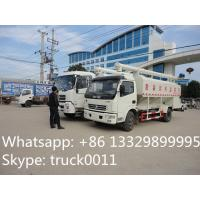Euro 3 dongfeng 120hp 4ton-5ton poultry feed delivery truck for sale, best price hydraulic 12m3 feed truck for sale Manufactures