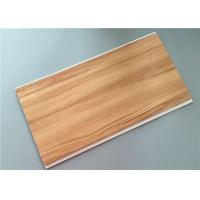 Wood Laminated Pvc Ceiling Planks , Pvc Interior Wall Panels Construction Materials Manufactures