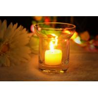 7Oz Mouth Blown Clear Decorating Glass Candle Holders , Astm Manufactures