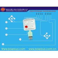 Push Button Flexible Circuit Board Membrane Switch Assembly With LED window Manufactures