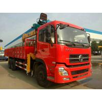 China 6x4 Drive Mode 10T Truck Mounted Crane / Construction Crane Truck With Cummins Engine on sale