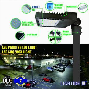 DLC Premium LED Parking Lot Lights_ Shoebox light, CREE LED 60W, 100-277vac, 7 yrs warranty Manufactures
