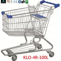 Quality Portable Grocery Shopping Trolley With Baby Seat For Supermarket 100L 90KGS for sale
