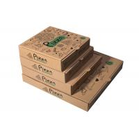 China Recycled Pizza Packaging Boxes , Printed Brown Cardboard Food Boxes With Free Sample on sale