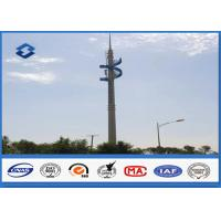 Steel Conical Self Supporting Telecommunication Pole With Climbing Ladders Manufactures