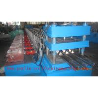 PLC Control Crash Barrie Guardrail Roll Forming Machine , Highway Guardrail Making Line Manufactures