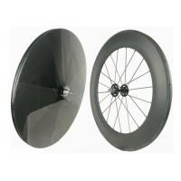 Quality Track Bike Carbon Fiber Wheels 700C Hot Wheels Tracks Disc Wheel Rear 23MM for sale