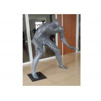 Gray Adults Sports Plus Size Retail Display Mannequins Fiberglass For Shopping Mall Manufactures