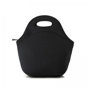 Eco Friendly Dustproof Black Neoprene Lunch Tote Bag Manufactures