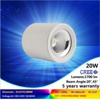 5000K 20W CREE COB LED downlight NEW lighting fixture is ceiling mounted warranty 5 years Manufactures