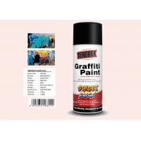 Plastic White Color Graffiti Spray Paint Fastest Dry TimeFor Indoor / Outdoor Projects Manufactures