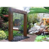 Corten Steel Rain Curtain Water Feature Water Curtain Fountain Different Sizes Manufactures