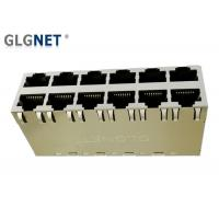 Magnetic RJ45 Connector  2 X 6 Stacked RJ45  -40 °C to 85 °C  Operating Temp POE+