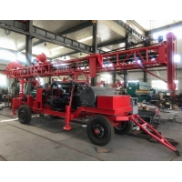 Portable Trailer Mounted DTH Water Well Drilling Rig Machine For 100-500m Depth Manufactures
