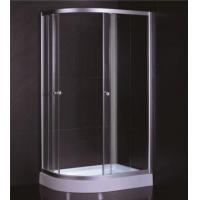 D Sector Shape Glass Shower Cabin Framed Corner Shower Cubicle Space Saving Manufactures