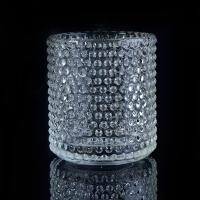Clear Nail glass candle holders for wedding , glass flower candle holder Manufactures