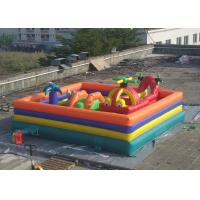 Plato PVC Tarpaulin Childrens Inflatable Fun Park With Slide And Tunnel Manufactures