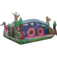 Gaint Inflatable Bounce House Combo , Inflatable Slide Obstacle Game Slide Manufactures