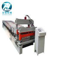 Hydraulic Wave Roof Glazed Tile Roll Forming Machine / Roll Form Equipment Manufactures