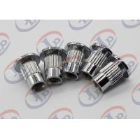 Lathe Machining Turned Metal Parts Chromium Plated Iron Nuts With Through Thread Manufactures