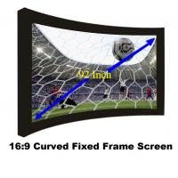 China Durable 92Inch Fixed Frame Projection Screen With 80mm Black Velevt Aluminum Cinema Fabric on sale