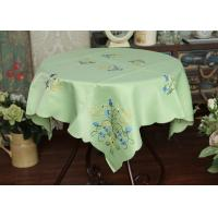 Pretty Square Decorative Table Cloths Multiple Colors Custom Embroidered Tablecloths Manufactures