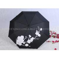 Creative Colour Changing Umbrella , Plastic Handle Fold Away Umbrella Manufactures
