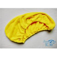China Yellow / Red Microfibre Hair Turban Towel Wrap Super Absorbent , Quick Dry Towel on sale