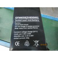 Long Life 650Ah 2V Lead Acid Battery With Low Self - Discharge GFM650 Manufactures