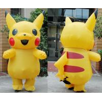 Adult Large Mascot Pikachu Inflatable Cartoon Characters Cosplay Halloween Funny Dress Manufactures