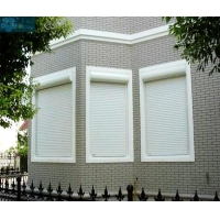 Vertical 2mm 4500PA Wind Load External Window Shutters Manufactures