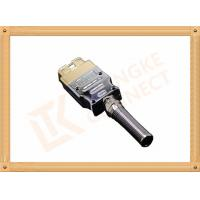 Golden Plated Metal 16 Pin Obd Connector J1962 OBD Male Connecor Housing Strain Relief Manufactures