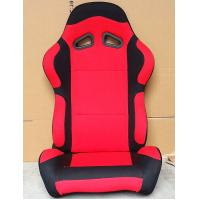 Black And Red Sport Racing Seats Universal Cars Parts Foldable With Safety Belts Manufactures