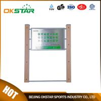 outdoor exercise equipment WPC materials based sign board-LK-G01 Manufactures