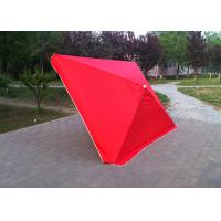 4 Ribs Red Rectangular Outdoor Umbrella 2.3mx3.1m For Tea Shop Advertising Manufactures