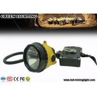 6.8Ah Rechargeable Li - Ion Battery Miners Helmet Lamp With 15000Lux Brightness Manufactures
