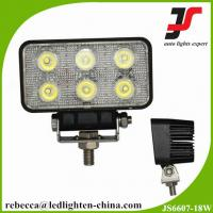 China Led automotive lights  flush mount waterproof 18W Epistar led work light on sale