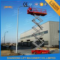 Hydraulic Auto Self Propelled Elevating Work Platforms with LED Battery Condition Indicator Manufactures