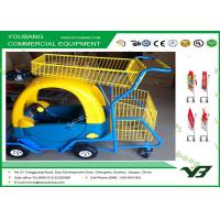 China 40L Children Shopping Trolley / Light Duty wire shopping cart with wheels/plastic trolley on sale